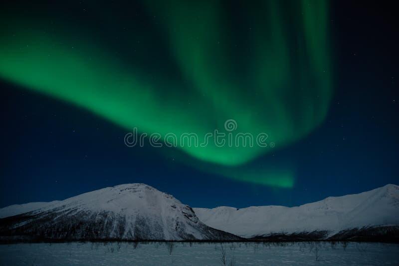 Il polaris dell'aurora è all'indicatore luminoso lunare immagine stock libera da diritti