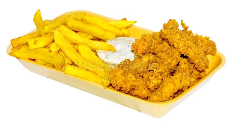 Il pollo mette a nudo il menu immagini stock