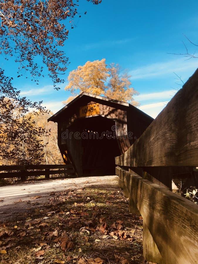 Il ponte coperto di Benetka - Ashtabula - OHIO fotografia stock libera da diritti