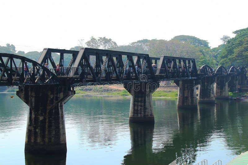 Il ponte del fiume Kwai - ferrovia di morte fotografia stock