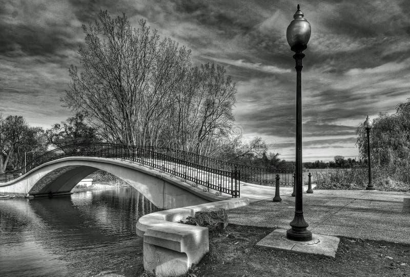 Il ponte dell'inverno immagini stock libere da diritti