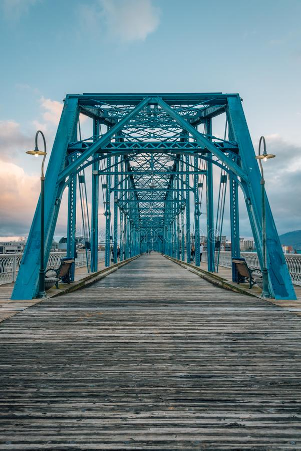 Il ponte della via della noce, in Chattanogga, il Tennessee fotografia stock