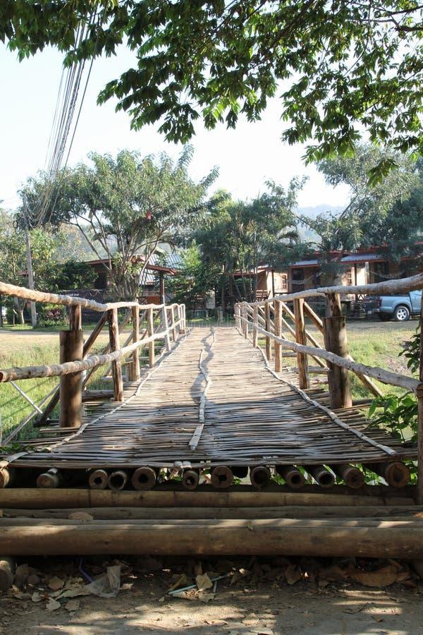 Il ponte di bambù immagini stock