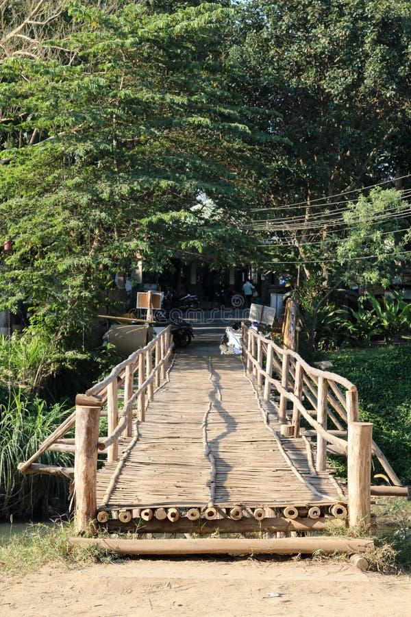 Il ponte di bambù fotografie stock