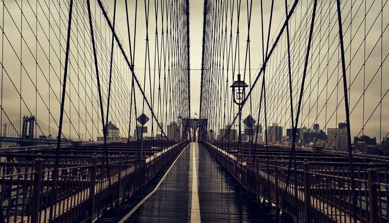 Il ponte di Brooklyn fotografia stock