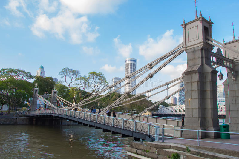 Il ponte di Cavenagh fotografia stock