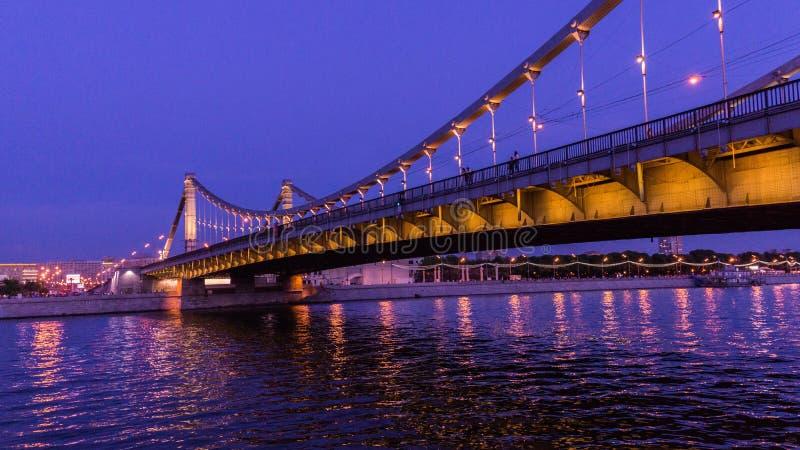 Il ponte di Krymskiy a Mosca immagine stock libera da diritti