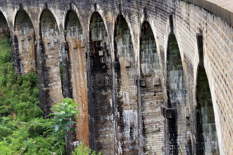Il ponte di nove archi in Ella, raggiungibile camminando sulla ferrovia immagine stock