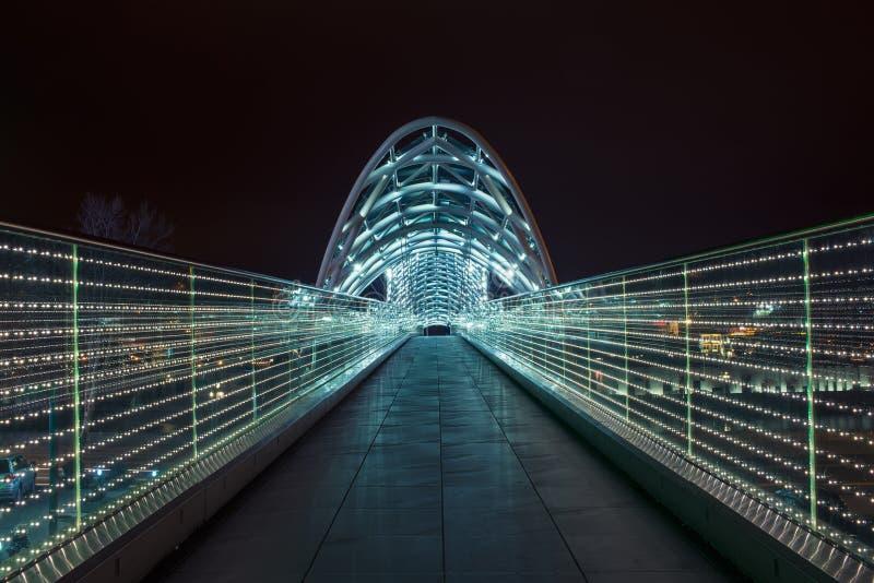 Il ponte di pace a Tbilisi fotografia stock libera da diritti