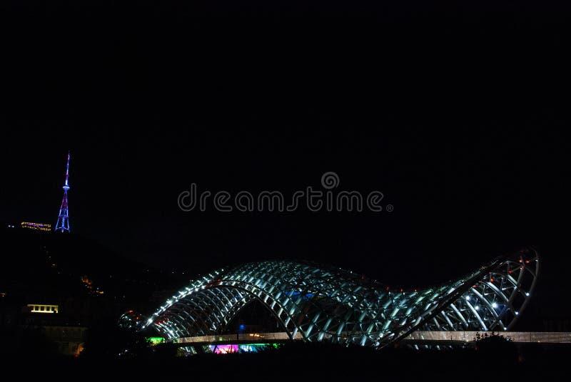 Il ponte di pace a Tbilisi, Georgia fotografia stock libera da diritti