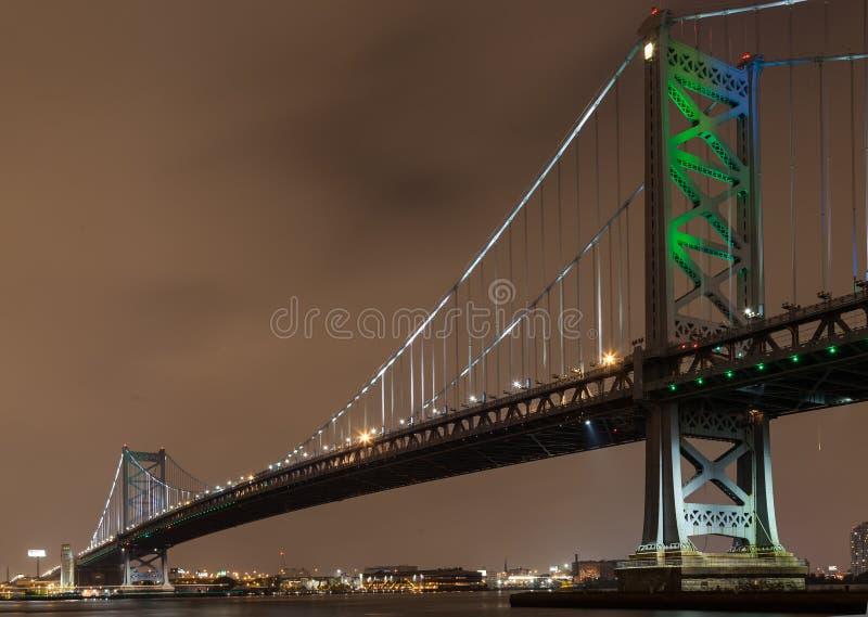 Ponte di Benjamin Franklin fotografia stock
