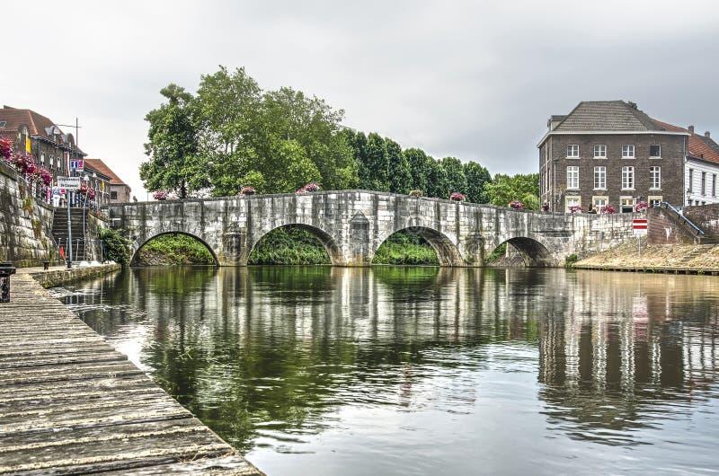 Il ponte di pietra in Roermond fotografia stock