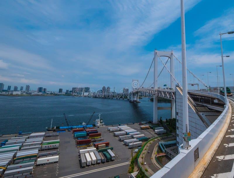 Il ponte famoso dell'arcobaleno a Tokyo - TOKYO, GIAPPONE - 12 giugno 2018 fotografia stock