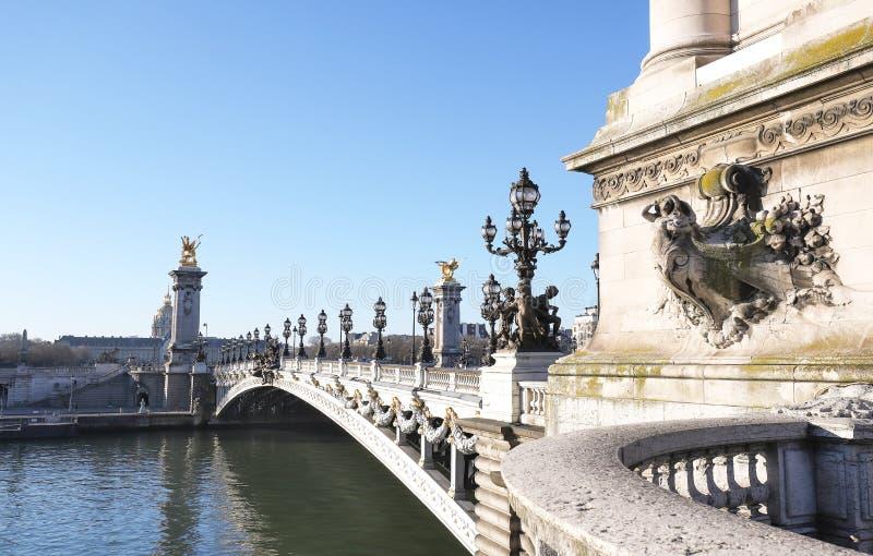 Il ponte famoso di Alexandre III a Parigi, Francia fotografia stock