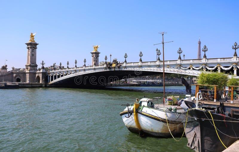 Il ponte famoso di Alexandre III a Parigi, Francia fotografie stock