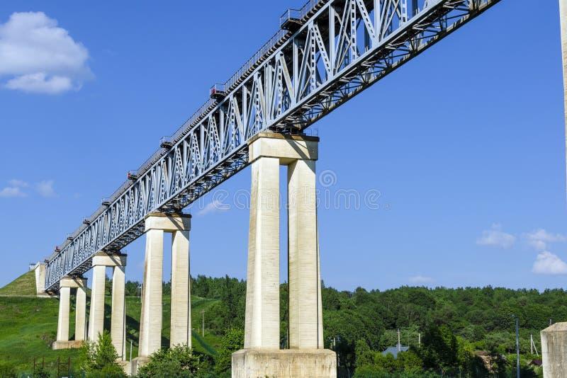 Il ponte ferroviario LyduvÄ-NaI in Lituania È situato nel LYD fotografia stock libera da diritti