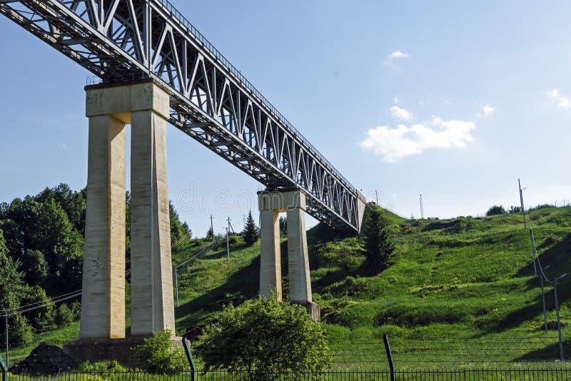 Il ponte ferroviario LyduvÄ-NaI in Lituania È situato nel LYD immagini stock libere da diritti