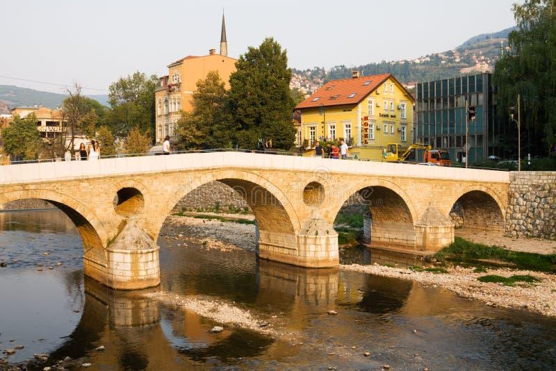 Il ponte latino a Sarajevo immagine stock libera da diritti