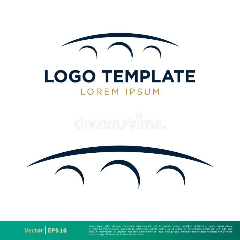 Il ponte mormora la linea vettore Logo Template Illustration Design dell'icona Vettore ENV 10 royalty illustrazione gratis