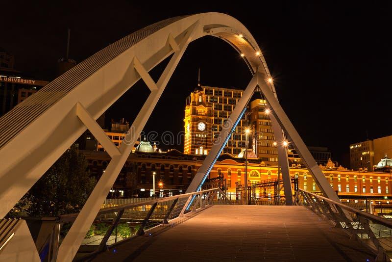 Il ponte pedonale Melbourne fotografia stock libera da diritti