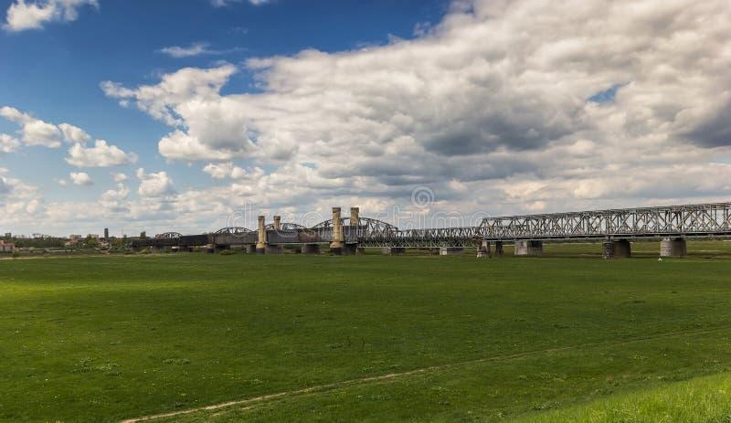 Il ponte in Tczew fotografia stock