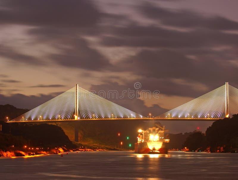 Il ponticello Centenario nella repubblica Panama fotografia stock libera da diritti