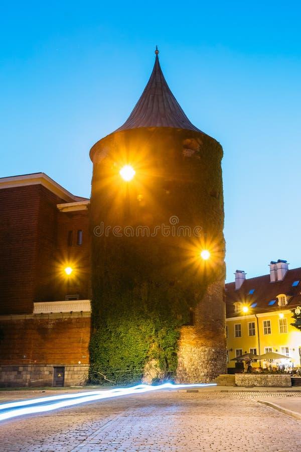 Il ponticello della protezione Vista della torre della polvere, costruzione extant di antico immagini stock libere da diritti