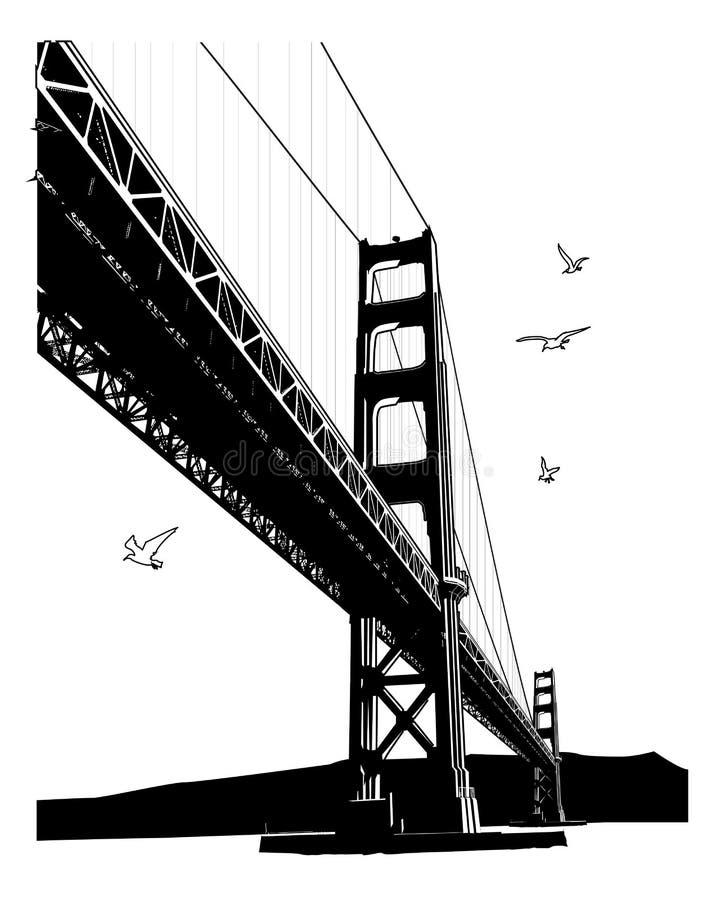 Il ponticello di cancello dorato, San Francisco royalty illustrazione gratis