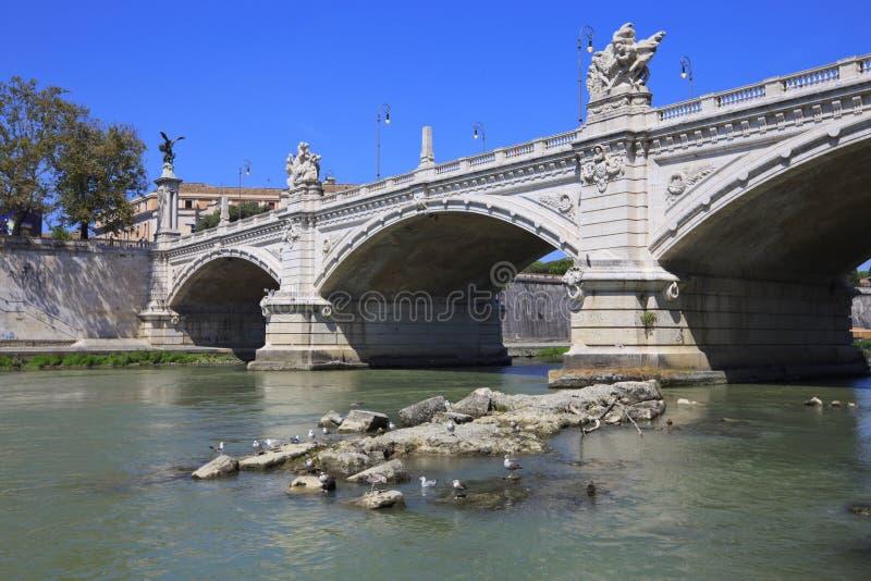 Il ponticello Vittorio Emanuele II, Roma, Italia. fotografia stock libera da diritti