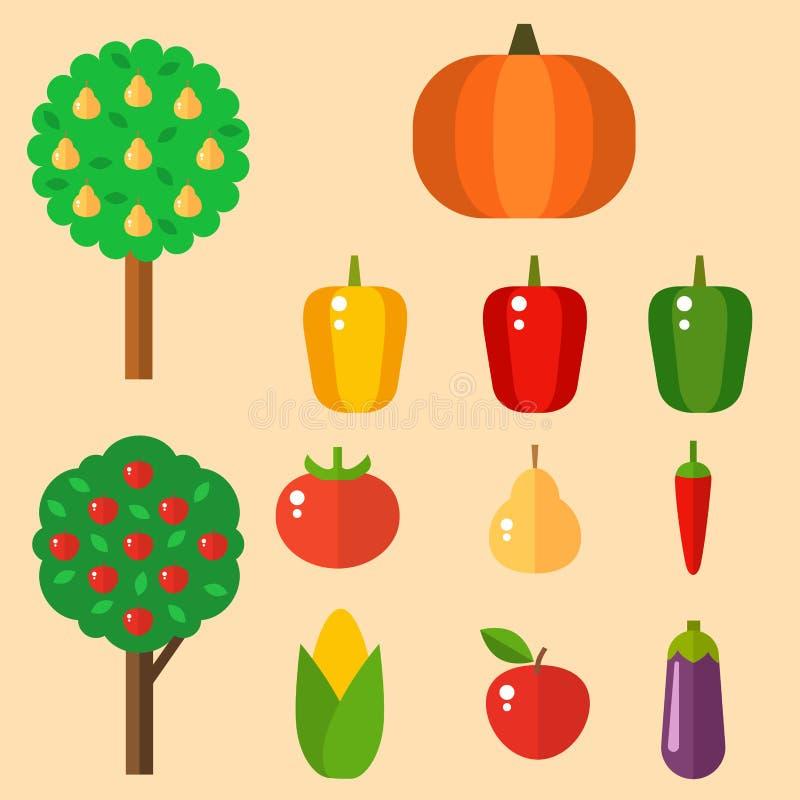 Il porridge rassodato dei pomodori dei peperoni di vettore della cellulosa dell'alimento delle verdure ha isolato il concetto san illustrazione di stock