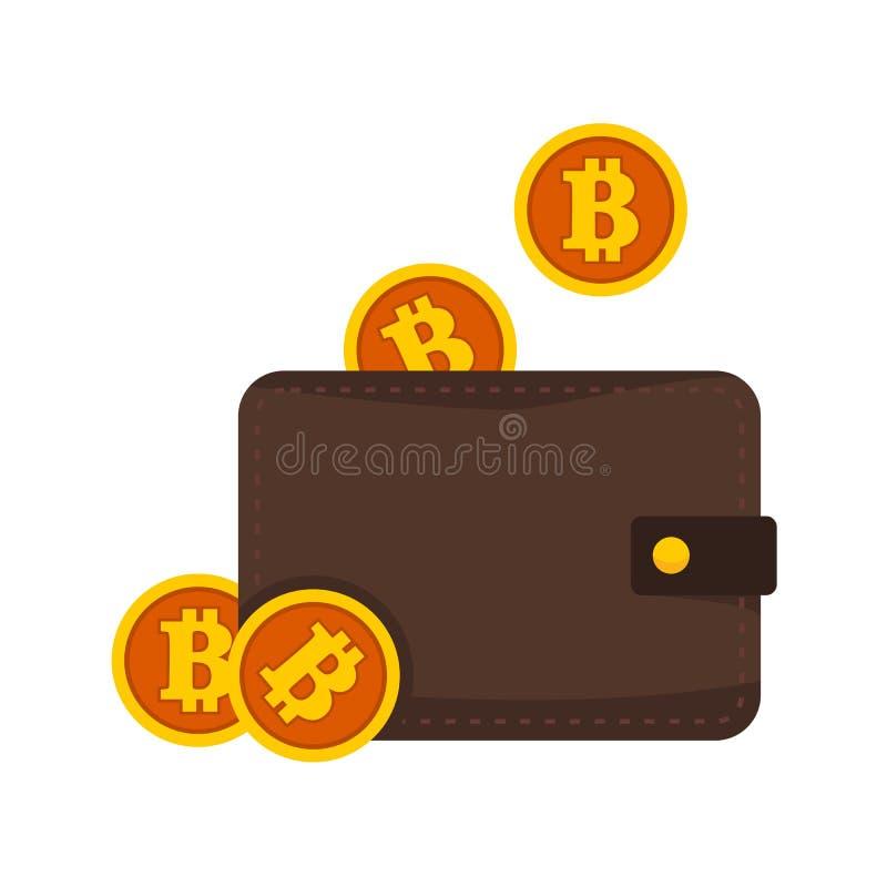 Il portafoglio di Bitcoin tiene l'illustrazione di vettore grafica royalty illustrazione gratis