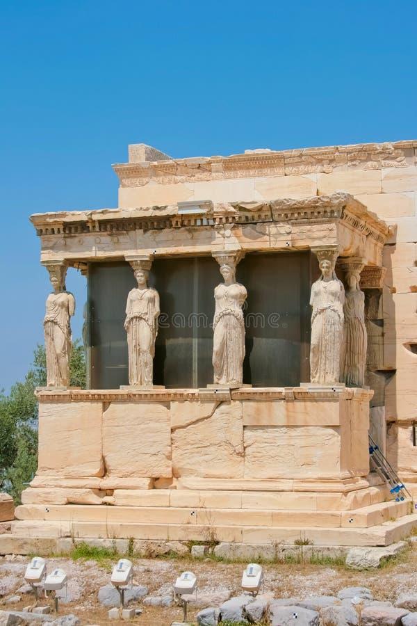 Il portico dei Caryatids immagini stock libere da diritti