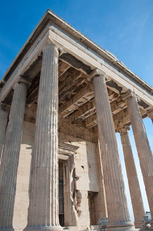 Il portico del nord del Erechtheion, Atene, Grecia. fotografie stock