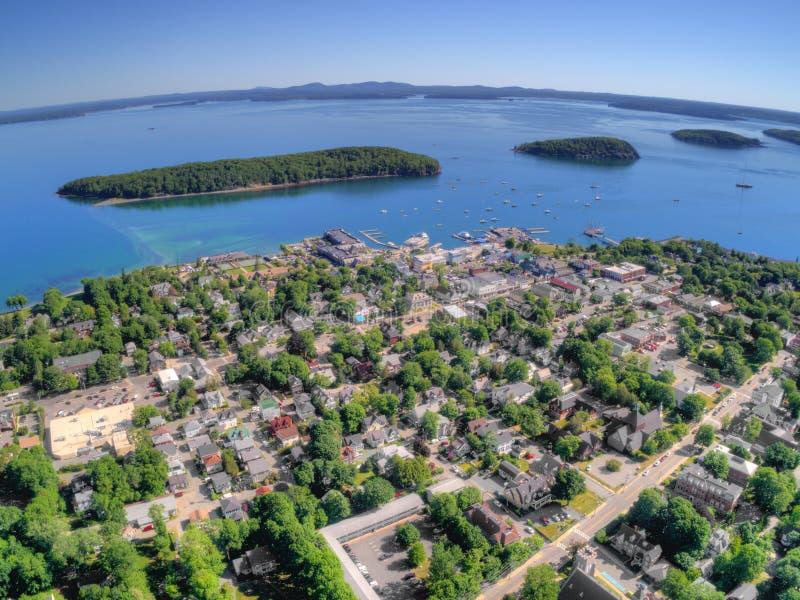 Il porto di Antivari è una città turistica su Maine Coast dalla nazione di acadia fotografia stock libera da diritti