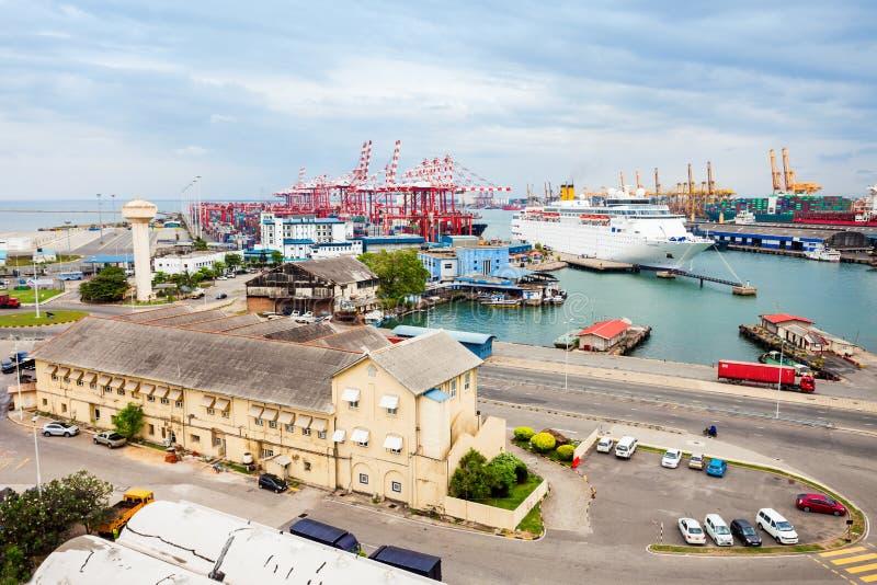Il porto di Colombo fotografia stock libera da diritti