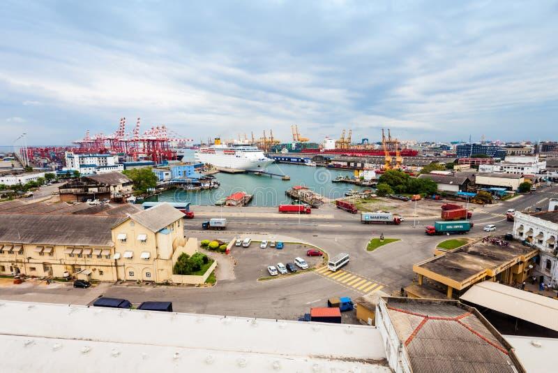 Il porto di Colombo immagini stock libere da diritti