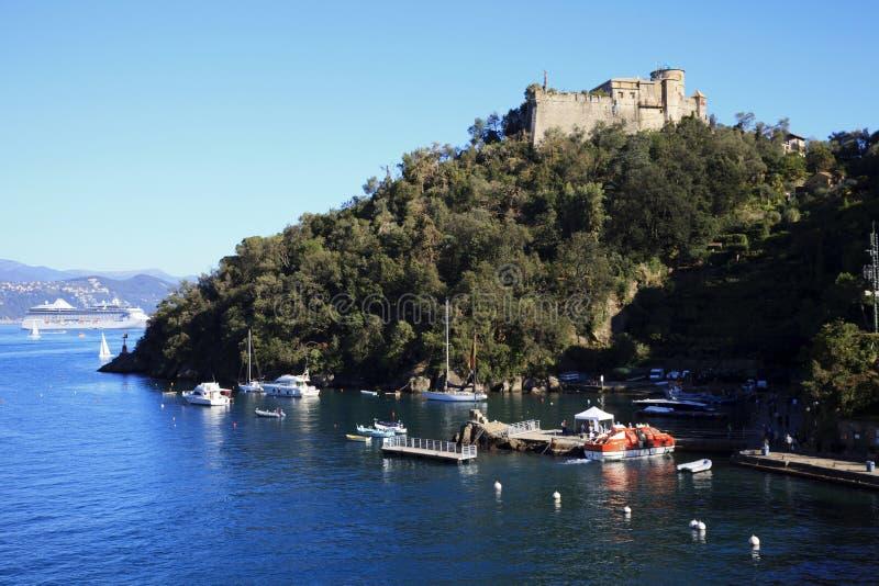 Il porto di Portofino, Genova, Liguria, Italia fotografie stock