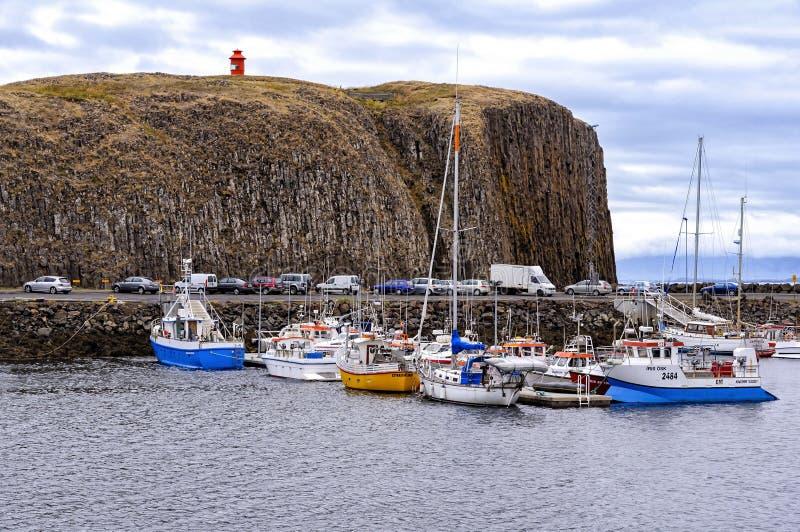 Il porto di Stykkisholmur, Islanda fotografia stock libera da diritti