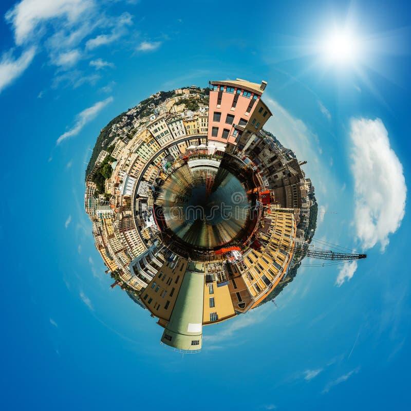Il porto a Genova è la capitale della Liguria fotografia stock