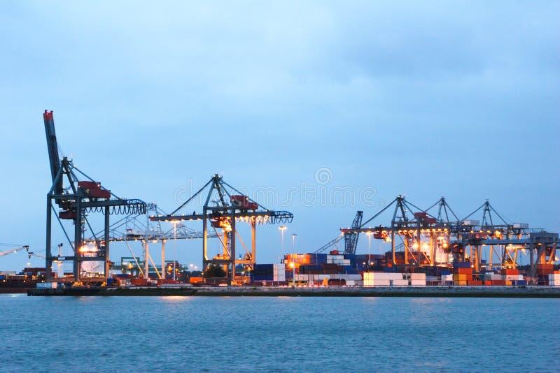 Il porto marittimo di Rotterdam fotografia stock