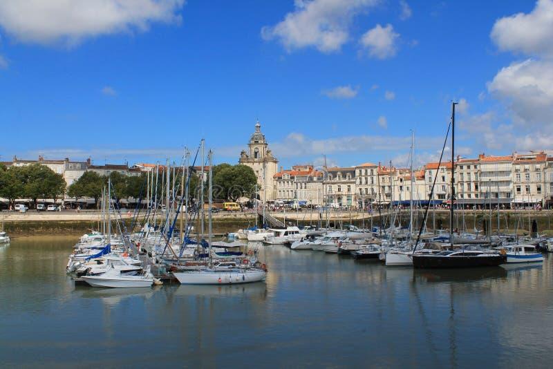 Il porto stupefacente di La Rochelle, spiaggia del ol in Charente-Maritime, Francia fotografia stock libera da diritti