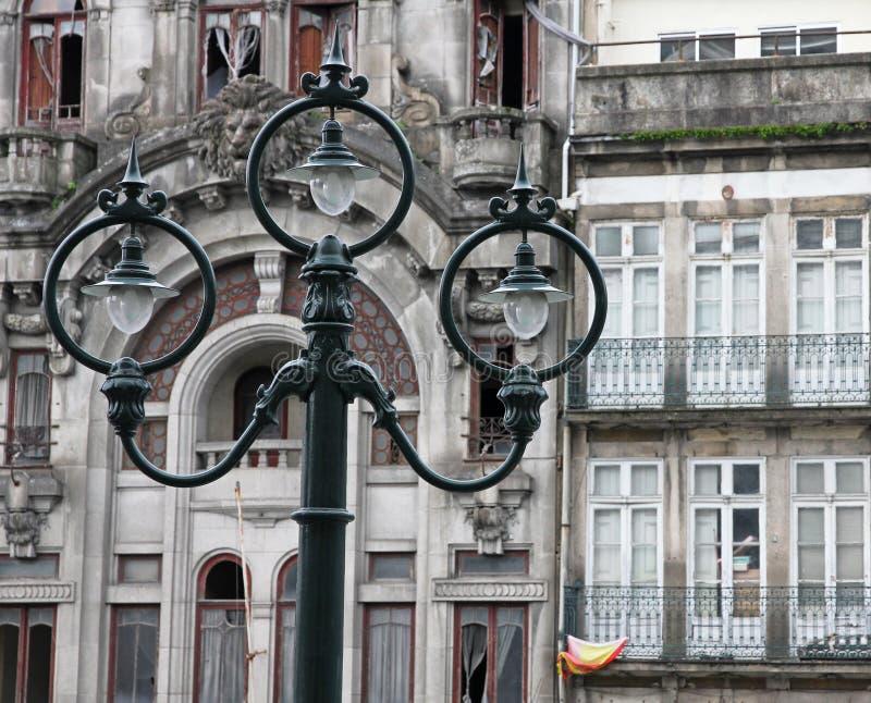 Il Portogallo. Città di Oporto. Lanterna antica fotografie stock libere da diritti