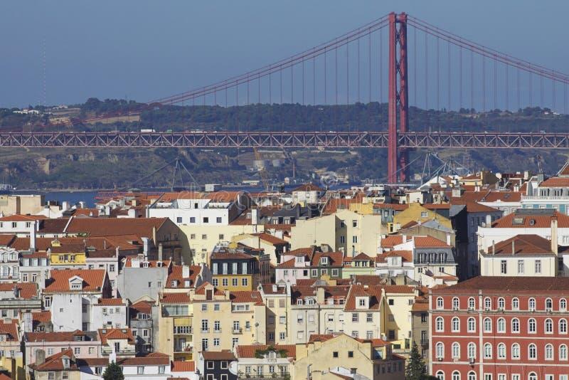 Il Portogallo: Costruzioni a Lisbona centrale fotografia stock libera da diritti