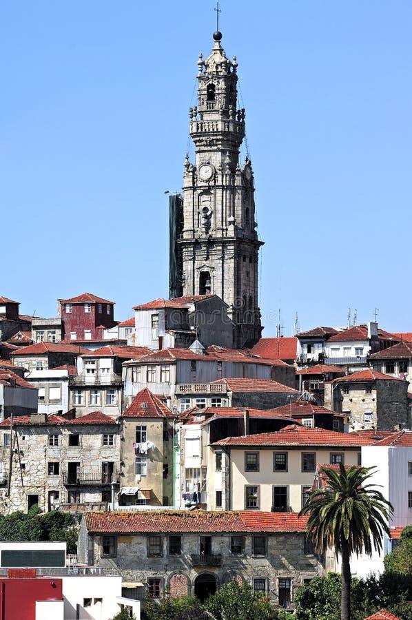 Il Portogallo, Oporto; clerigos del DOS del torre fotografia stock libera da diritti
