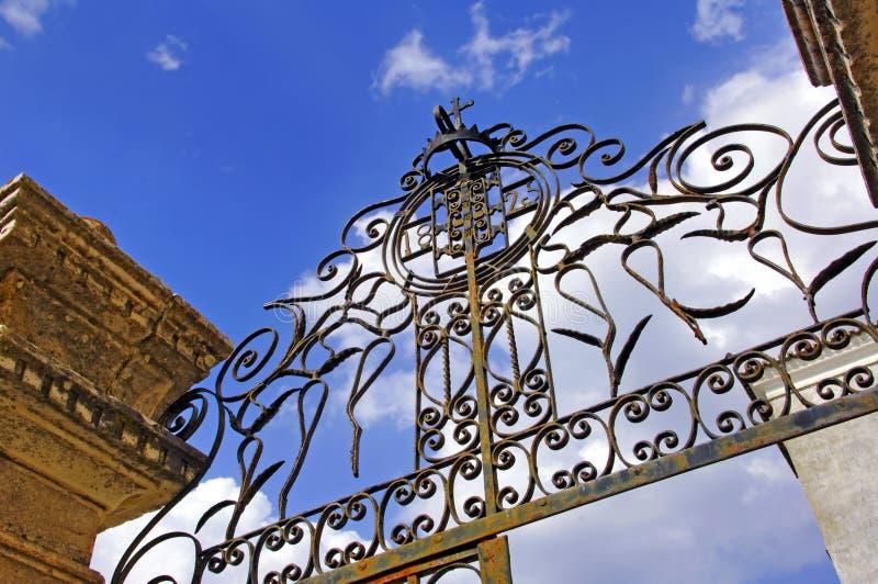 Il Portogallo, regione di Alentejo, Estremoz: Portello del ferro fotografie stock libere da diritti