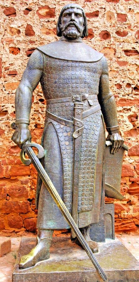 Il Portogallo, regione di Algarve, Silves: Statua immagini stock libere da diritti
