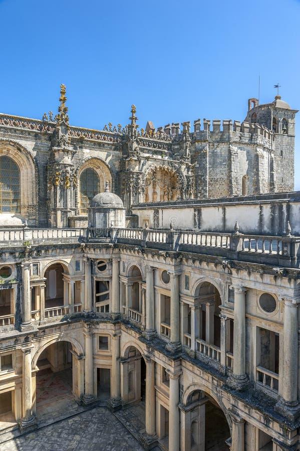 Il Portogallo, Tomar, monastero dell'ordine di Cristo fotografia stock libera da diritti