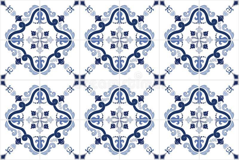 Il Portoghese decorato tradizionale piastrella i azulejos Illustrazione di vettore illustrazione di stock