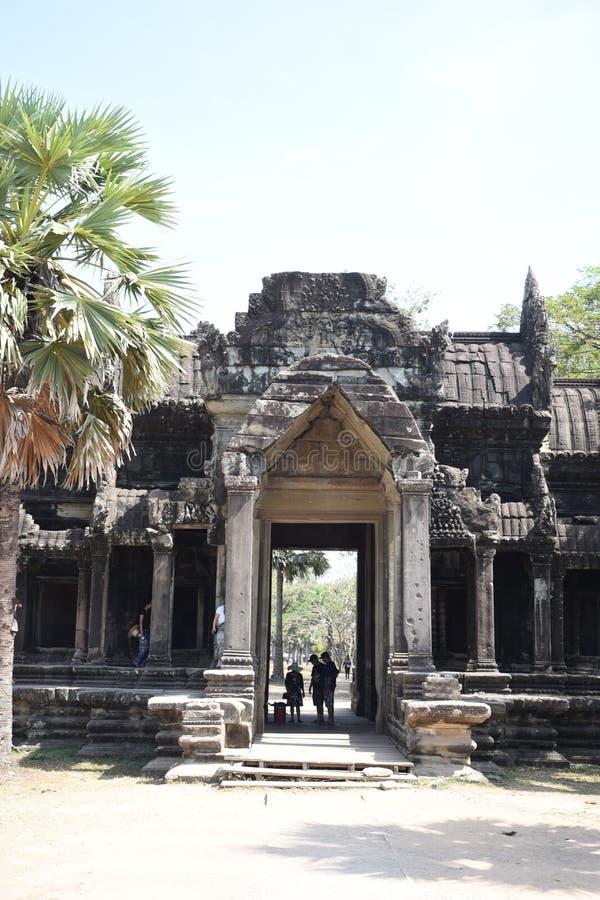 Il portone dell'elefante a Angkor Wat fotografia stock libera da diritti
