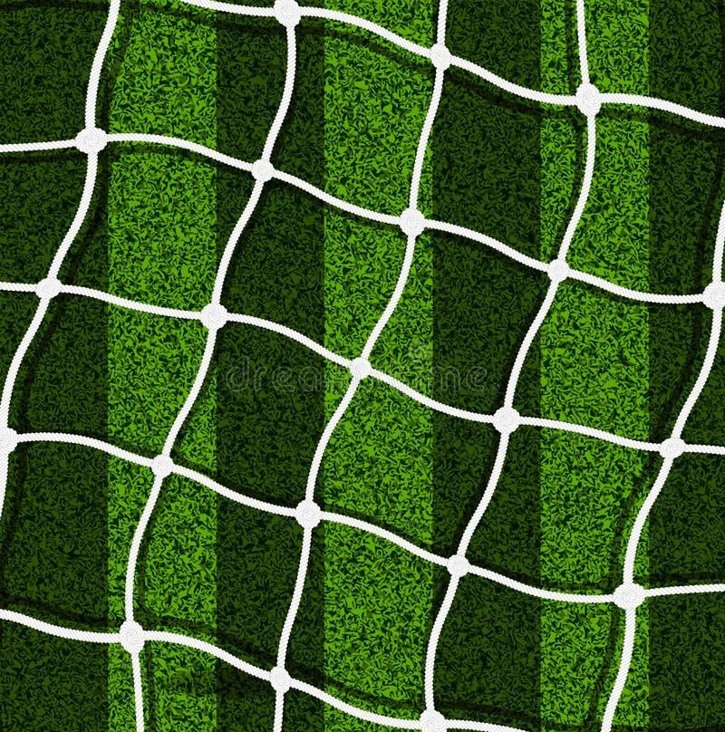 Il portone della maglia sui precedenti di un campo di football americano illustrazione vettoriale